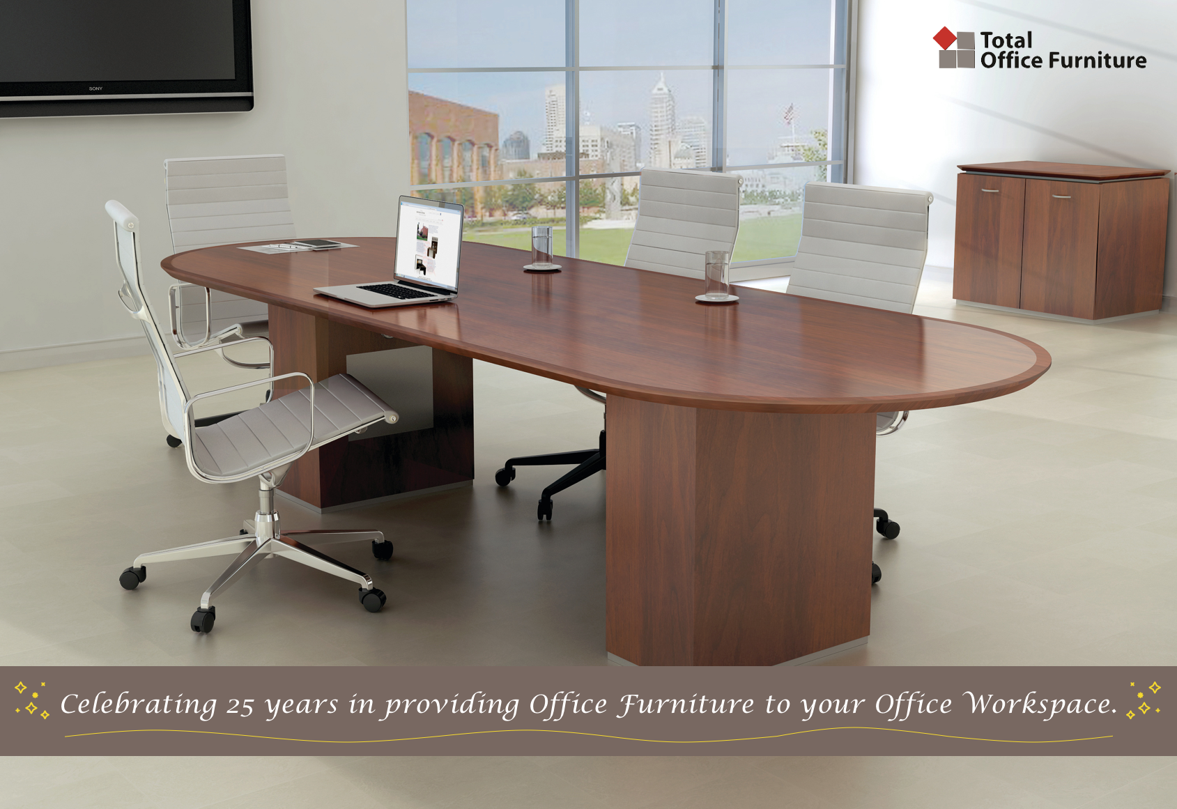 Total Office Furniture Celebrates Over 25 Years in providing you with the quality service and quality Office Furniture